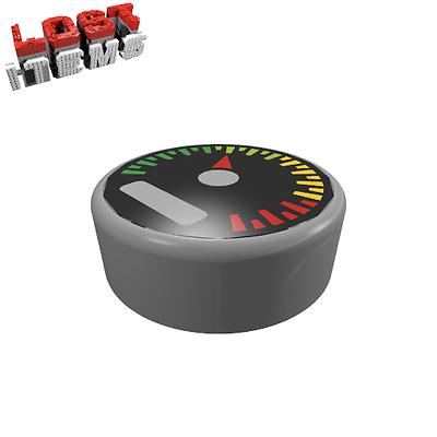 2 X [neu] Lego Rundfliese 1 X 1 Mit Tacho-aufdruck - Matt Silber - 98138
