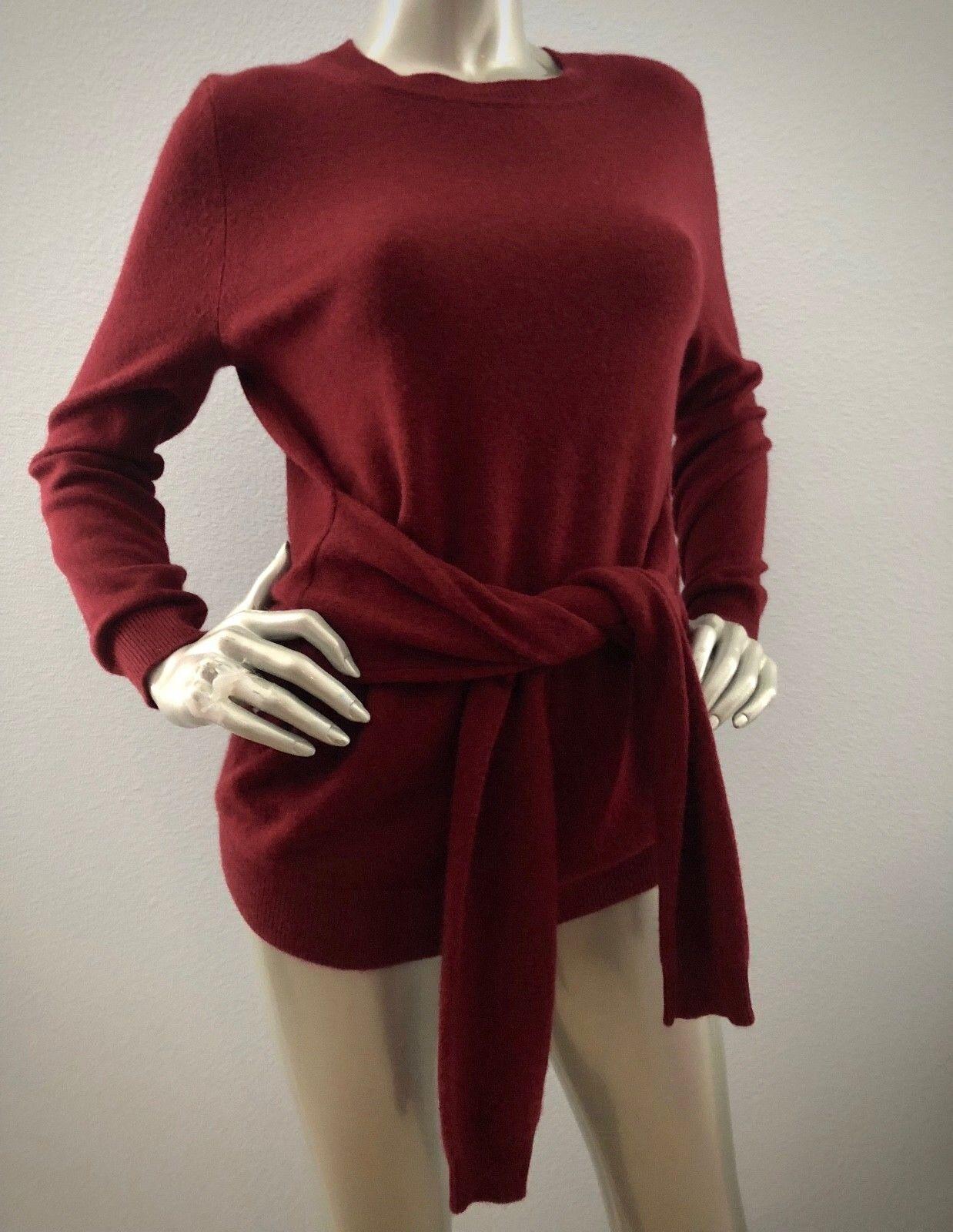 Antonio Melani  139 Nwt 100% Cashmere Cashmere Cashmere Tie Waist Ruby Lesley Sweater XS S M L 1ff599