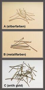 Kettelstifte-Nietstifte-Bastelbedarf-DIY-versch-Farben-Dicke-1-mm-NEU
