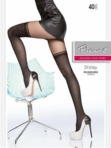 Fiore-SHIRLEY-40-Den-Tights-Pantyhose-Hosiery-Nylons-Size-S-amp-M