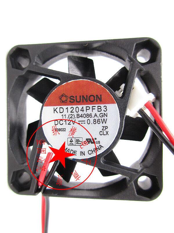 1PC SUNON KD1204PFB3 4CM 4010 12V 0.86W double ball cooling fan