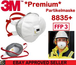 3M™ Atemschutzmaske 8835+ FFP3 FFP 3 R D I Ventil II Wiederverwendbar I Premium