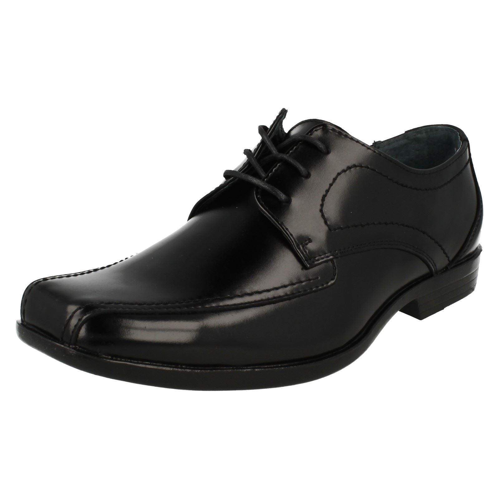 Herren Hush Easton Ralston Schwarzes Leder Intelligente Spitzen Sich Schuhe