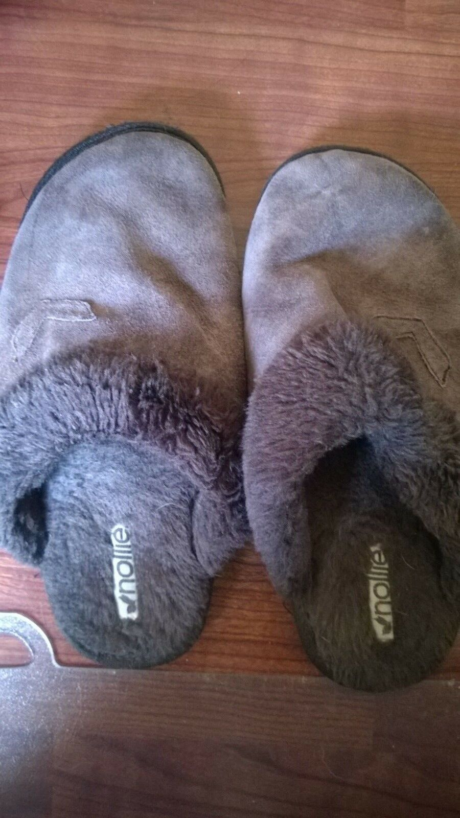 Nollie Brown Leather Slippers Sz10 EUC