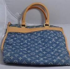 Louis Vuitton Blue Monogram Denim Flat Shopper (Sac Plat)
