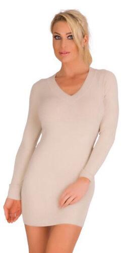 10280 da donna finemente lavorato a maglia miniabito donna sexi dress abito a Maglia Pullover