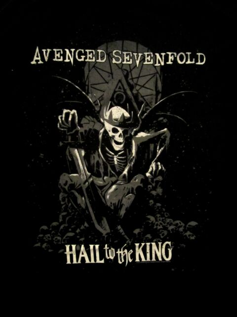 AVENGED SEVENFOLD cd lgo HAIL TO THE KING Official SHIRT LRG New end of days