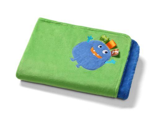 BABYDECKE Kuscheldecke Baby Decke Spieldecke 75x100 MICROFASER zweiseitig 1401