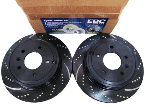 EBC GD7128 3GD DRILLED /& SLOTTED SPORT BRAKE ROTORS REAR