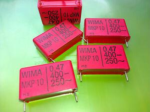 [10 pcs] MKP10 (0,47uF) 470nF 400V Genuine WIMA  Polypropylene Capacitors