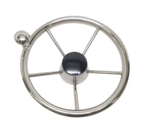 "Pactrade Marine Destroyer 11/"" Boat Steering Wheel Control Knob Black Cap 5 Spoke"