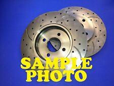 Pontiac Fiero 88 Drilled Slotted Brake Disc Rotors REAR