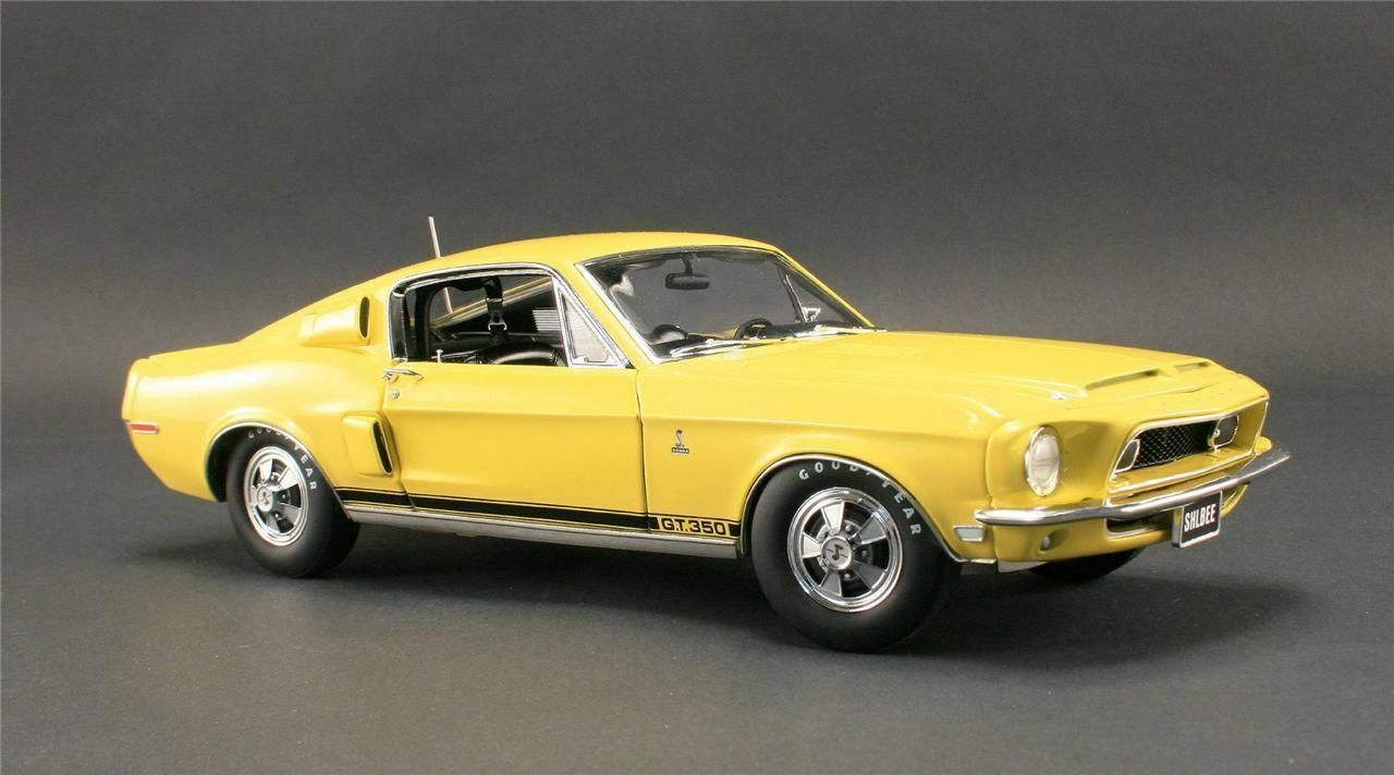 Ford mustang shelby gt 350 gelb 1968  - druckguss auto wt 3855 gmp 1,18 jahrgang