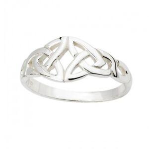 100% QualitäT Silber 925 Keltischer Ring Trinity Knot Quell Sommer Durst