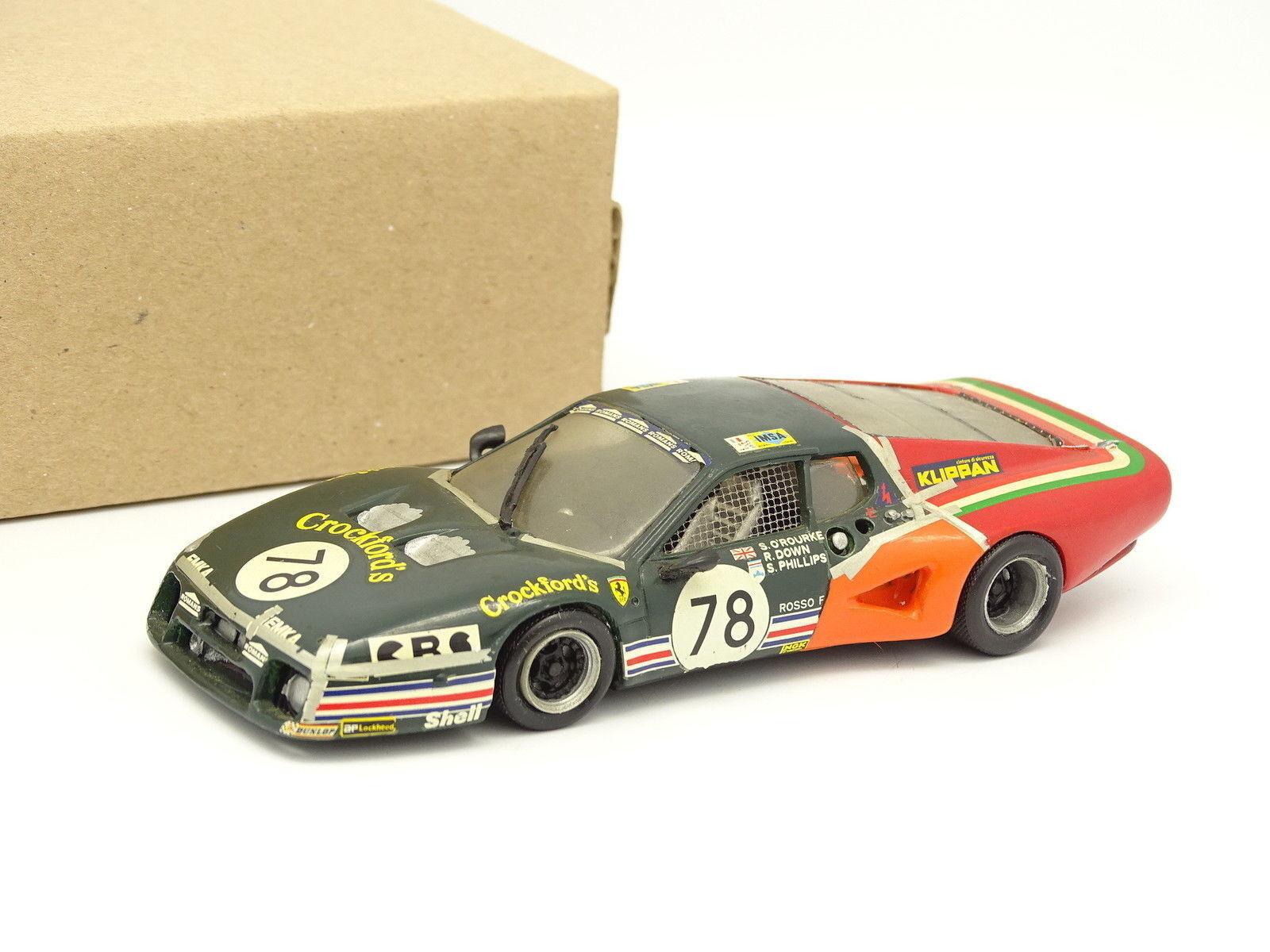 AMR Kit Montado Metal 1 43 - Ferrari 512 BB Le Mans 1980 de Crockford N°78
