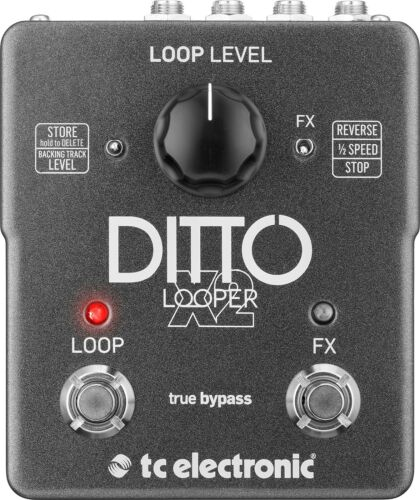 TC Electronic Ditto X2 Looper Guitar Loop Effects Pedal!