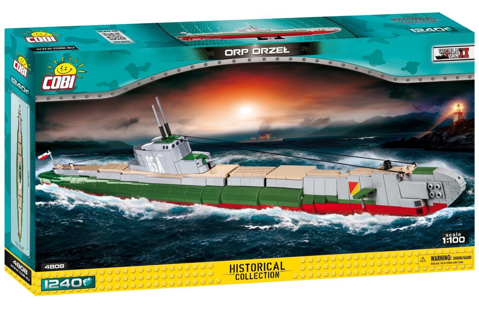 COBI ORP Orzel - Polish Submarine SET(1240 Pcs.) US SELLER, WWII, Navy
