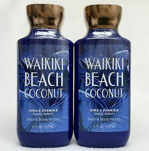 Details About 2 Bath Body Works Waikiki Beach Coconut Shea Vitamin E Body Lotion