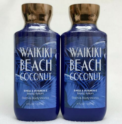 2 Bath & Body Works WAIKIKI BEACH COCONUT Shea & Vitamin E Body Lotion