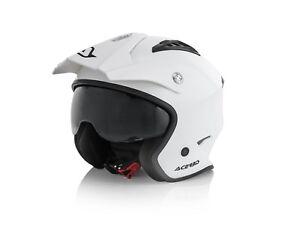 ACERBIS-jet-ARIA-casco-in-fibra-HELMET-Trial-bianco-con-occhialino