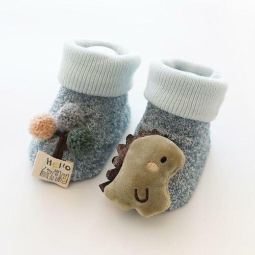 Baby Boy Girl Infant Kid First Walkers Sock Anti-Slip Soft Sole Cute Floor Sock