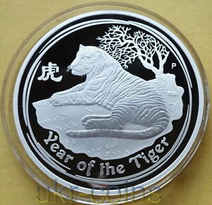 Series II from Perth Mint in Australia 2010 Lunar Tiger 1 oz Silver Coin