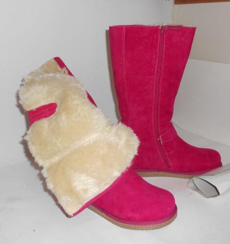NEW ladies warm pink// Fuchsia Round Toe  Winter Mid-Calf Boots Size 6