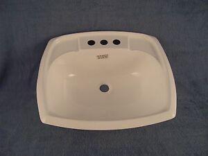 Rv Parts Bathroom Lav White Sink W, Mobile Home Bathroom Sink