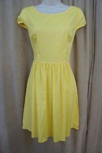 B Darlin Juniors Dress Sz 7 8 Yellow Cotton A Line