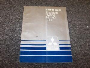 1986 Mitsubishi Mirage Electrical Wiring Diagram Manual L ...