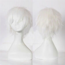 UNISEX Male Female Straight Short Hair Wig Cosplay Party Anime Fancy Full Wigs #