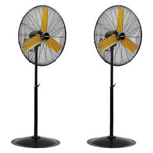 Details About Master Professional 30 Inch High Velocity Oscillating Pedestal Fan 2 Pack