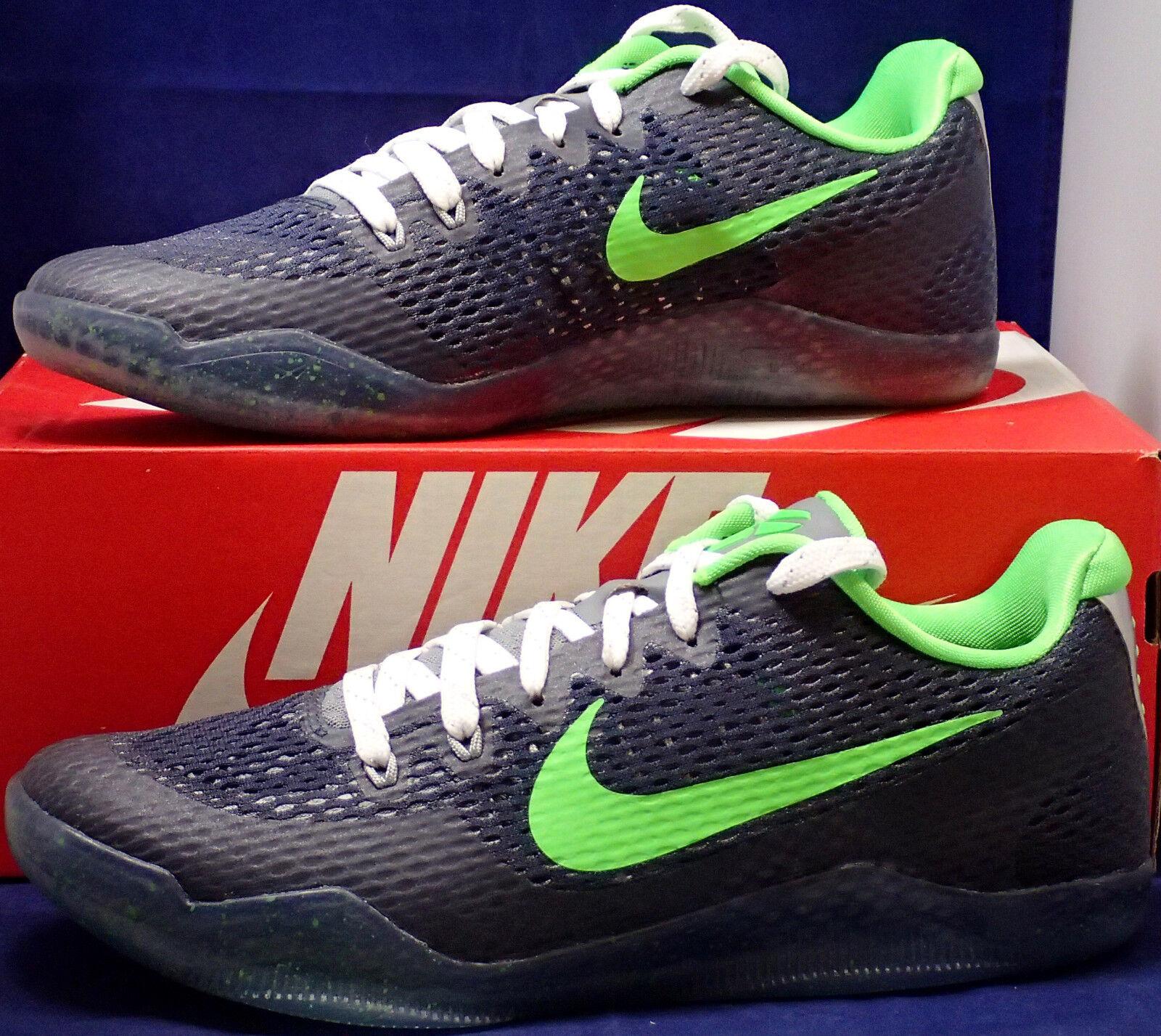 Nike Kobe XI 11 Mamba Day QS QS Day iD Seattle Seahawks Blue Green SZ 9.5 (865773-996) 3822ce