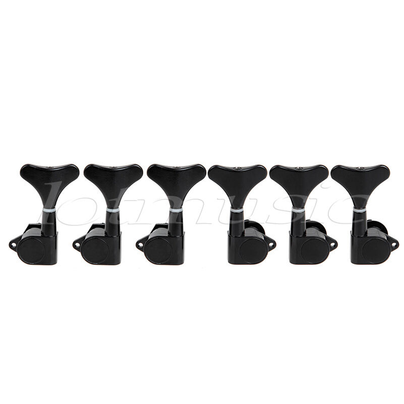 guitar tuning pegs machine heads tuning keys for electric 6 string bass black ebay. Black Bedroom Furniture Sets. Home Design Ideas