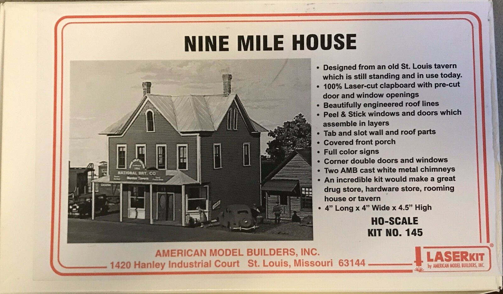 AMB Laser Kit  145 Nine Mile House & Tavern HO scale Craftsuomo Kit
