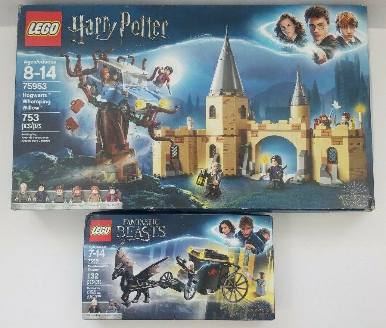 Lego Harry Potter Poudlard Cogneur WilFaible (75953)  Grindelwald L'évasion (75951)  vente avec grande remise