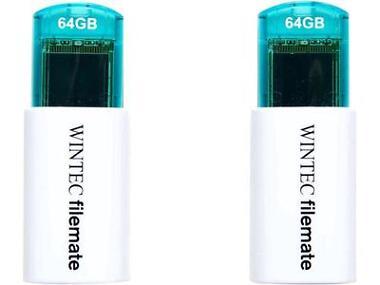 2-Pk. Filemate 64GB USB Flash Drive