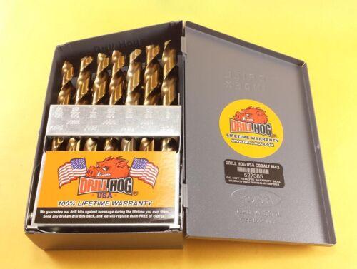 Perceuse Hog ® 29 PC Cobalt Drill Index Set Bit HSSCO Perceuses M42 Garantie à vie