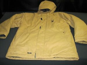 Spyder Snow Ski Snowboarding jacket kids size 20 Brown Made for Warmth~8677