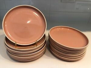 12-PRISMA-RADIUS-Made-in-Japan-Massimo-VIGNELLI-Designs-Pink-CORAL-Salad-Plates