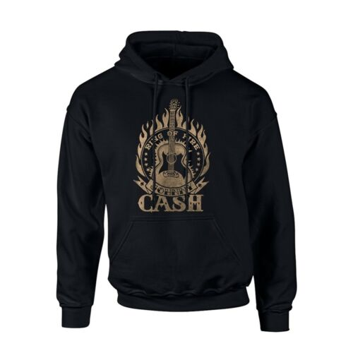 Johnny Cash Ring Of Fire NEW Hooded Sweatshirt