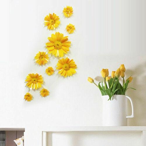 New Daisy Fleur 3D Fashion Autocollant Mural pour Fenêtre Chambre Cuisine Décoration