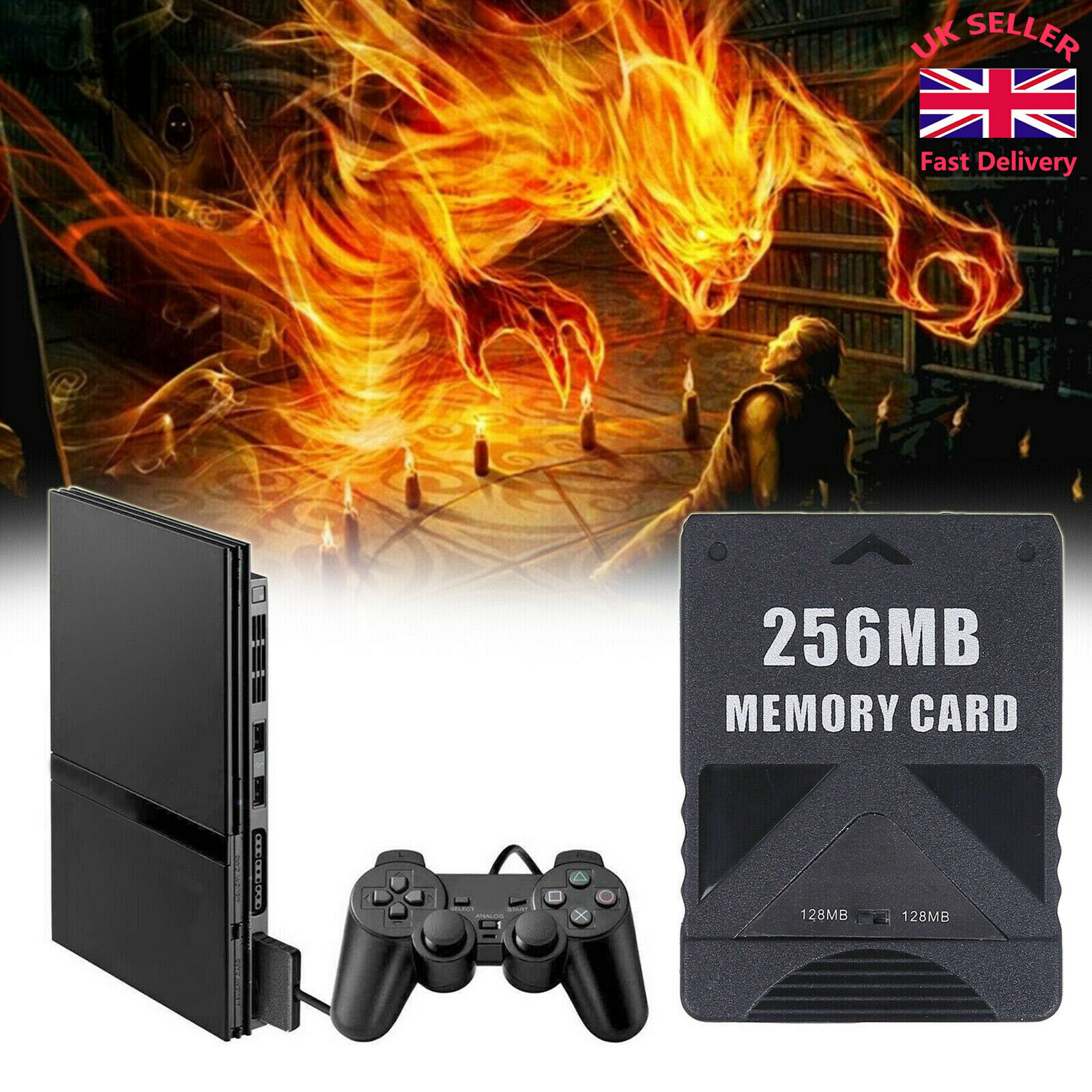 256MB Megabyte Memory Card for Sony PS2 PlayStation 2 Bland New UK