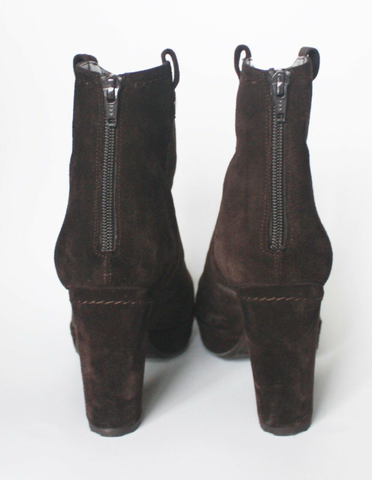STUART WEITZMAN HIPGAL SUEDE ANKLE BOOTS BOOTS BOOTS 39 9  594 Brown Platform Booties shoes a0f05e