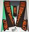 Rockshox Lyrik 2018 Style Sticker Decal Sets DH Enduro Orange//Stealth