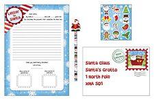 Natale Lettera A Babbo natale - 5 pezzi set - Bambini Natale Lista lettera
