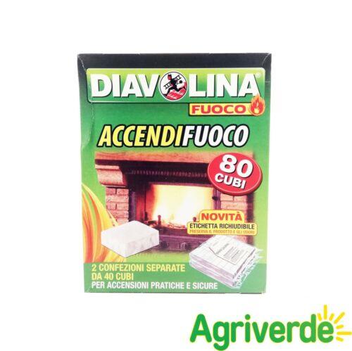 Diavolina Accendi fuoco Accensioni Pratiche e sicure 80 Cubi Busta Richiudibile