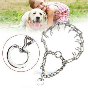 Dog-Training-Prong-Collar-Pinch-Choke-Chain-Steel-Metal-Adjustable-16-034-22-034-LARGE
