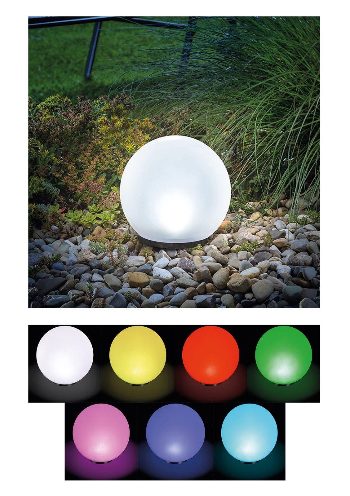 2 x 20cm LED Sfera Solare Lampada Solare Sfera Luminosa Solare Sfera Solare Giardino Lampada