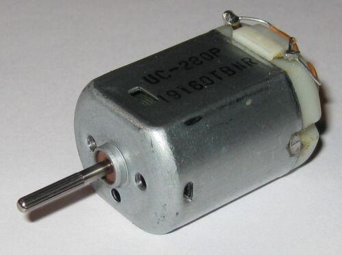 Car DC Motor UC-280P 12VDC Electric Motor Filter Capacitor Knurled Shaft
